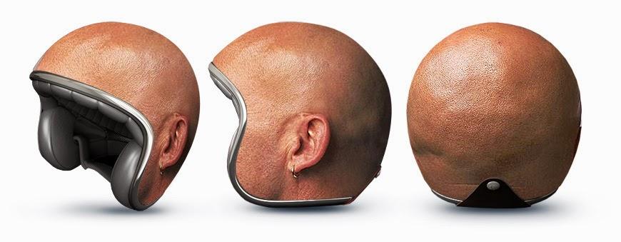 Helm Unik biar terlihat antik