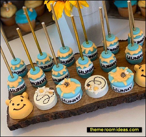 Winnie the Pooh Oreos hunny pot Cake pops winnie the pooh cakes winnie the pooh party