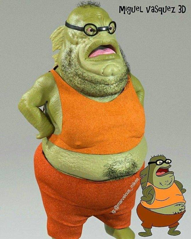 Realistic Variations of Famous Cartoon Characters by Miguel Vasquez 3D