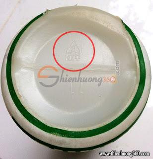 Bình sữa dưới đáy chai có ký hiệu Số 2 (HDPE)