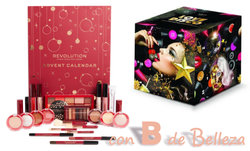 Calendario adviento Makeup revolution y Nyx