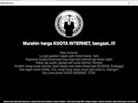 Website Resmi Telkomsel Diretas, Hacker Protes Kouta Internet Mahal