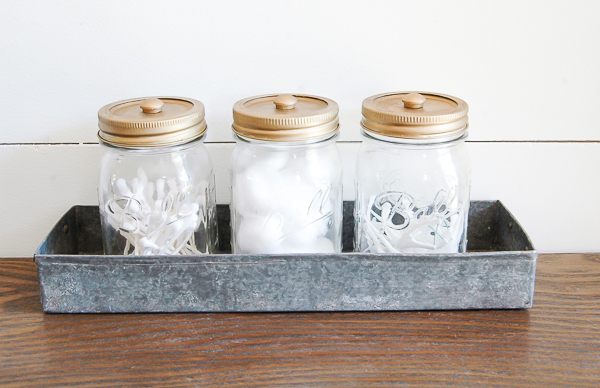 mason jar storage - Bathroom Jar