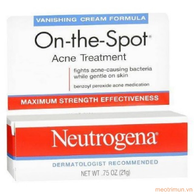 Review kem trị mụn Neutrogena On the Spot Acne Treatment