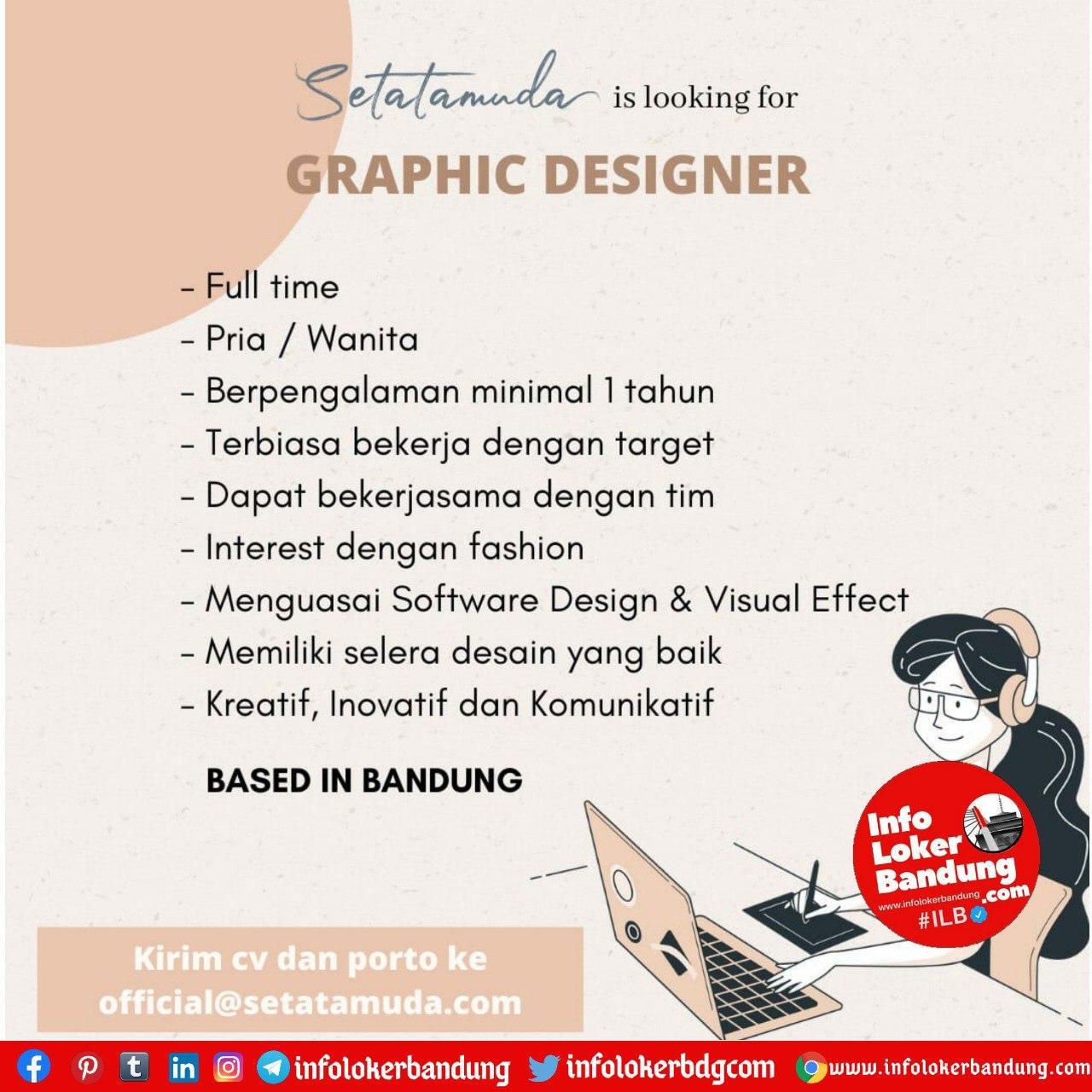 Lowongan Kerja Graphic Designer Setatamuda Bandung Agustus 2020