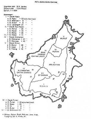 Suku Dayak menurut daerah tinggalnya