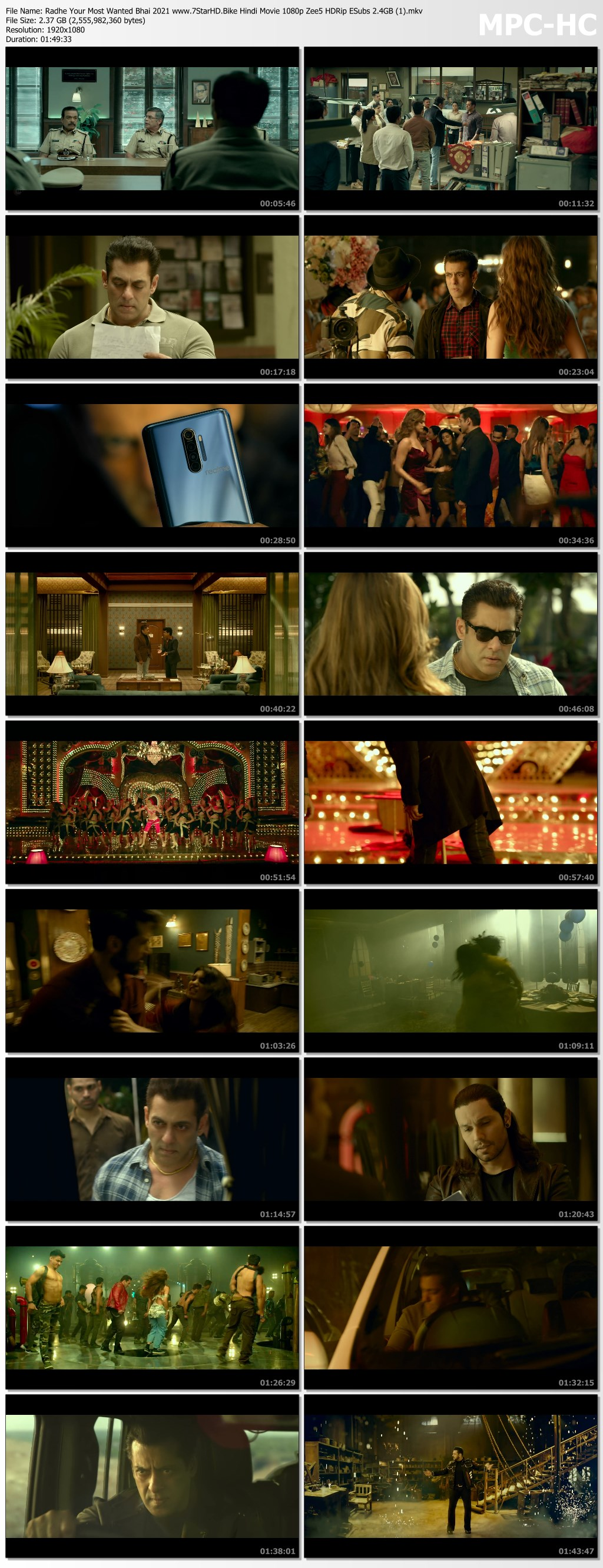 Radhe Your Most Wanted Bhai 2021 Hindi Movie 1080p Zee5 HDRip ESubs 2.4GB Download