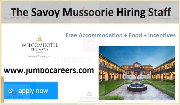 Mussoorie latest hotel jobs and careers,