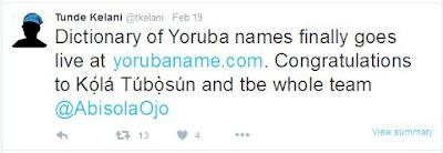 mercyflawless blog dictionary of yoruba names goes live