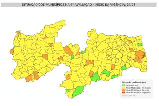 Mato Grosso-PB é a única cidade do Médio Piranhas que está com bandeira laranja