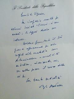 Risposta del Presidente Sergio Mattarella al libro Eccomi ci sono ancora