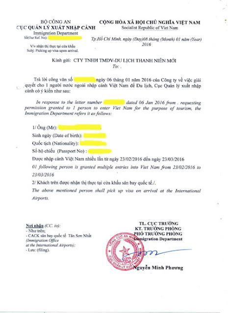 Get Vietnam Visa Approval Lettet For Difficult Nationality: Midle East, Africa Citizen