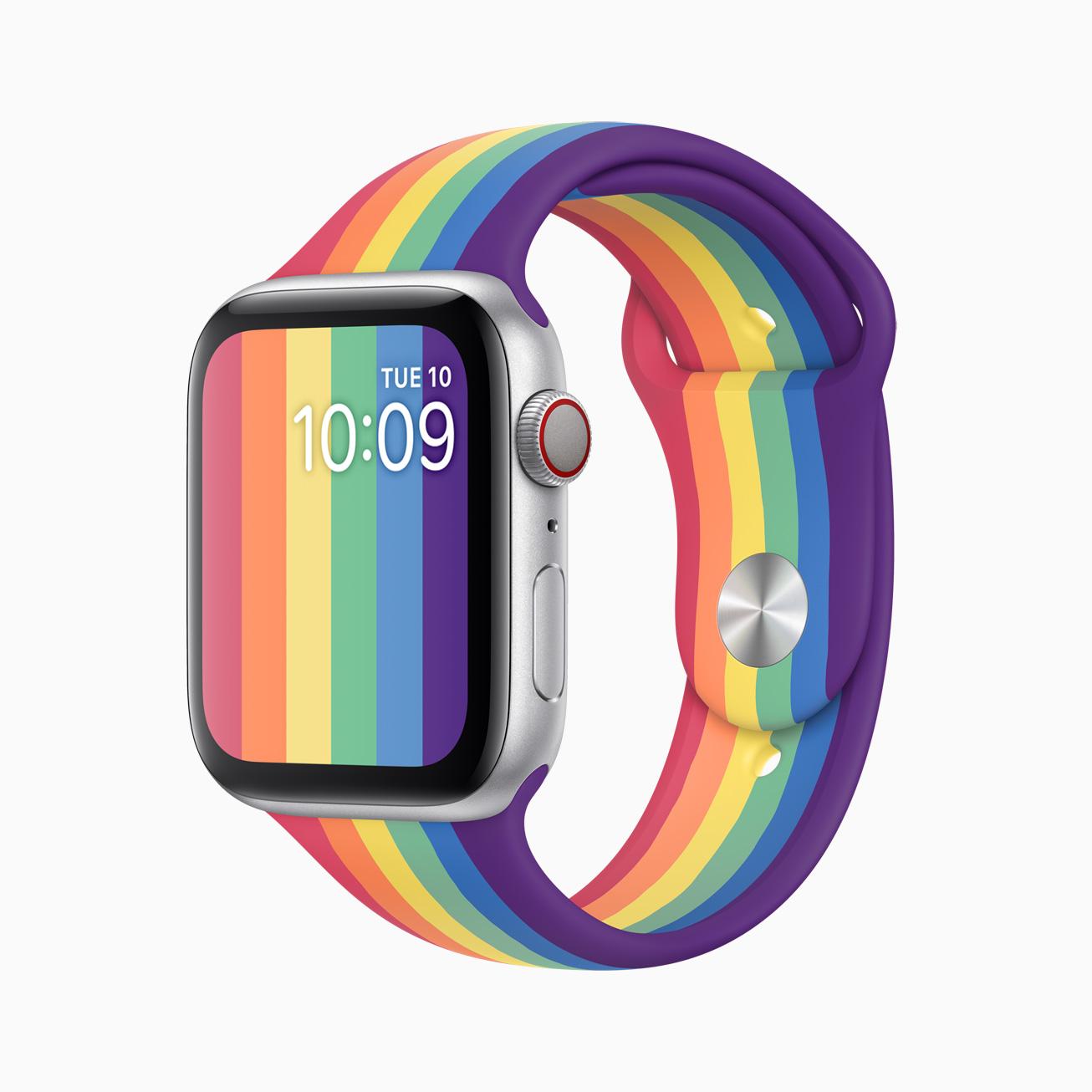 Apple Watch 彩虹錶帶和彩盤同時降臨!獨具藝術美