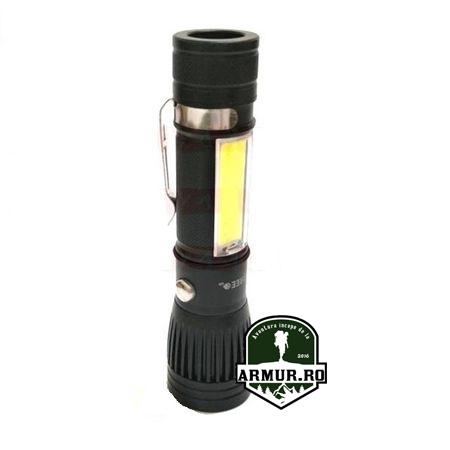 Lanterna incarcare USB acumulator 18650 inclus Led T6 COB