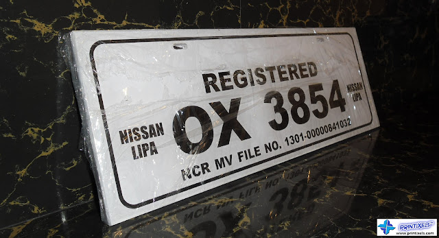 Acrylic Conduction Plate Number - Nissan Lipa, Batangas