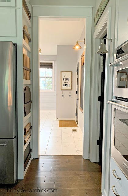 kitchen and mud room transition