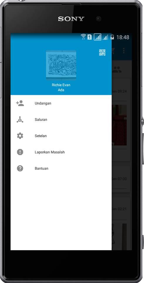 BBM MOD iPhone Blue versi 2.13.0.26