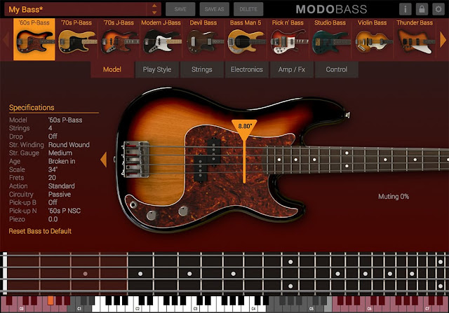 Interface MODO BASS - IK Multimedia