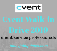 Cvent Walk-in Drive 2019
