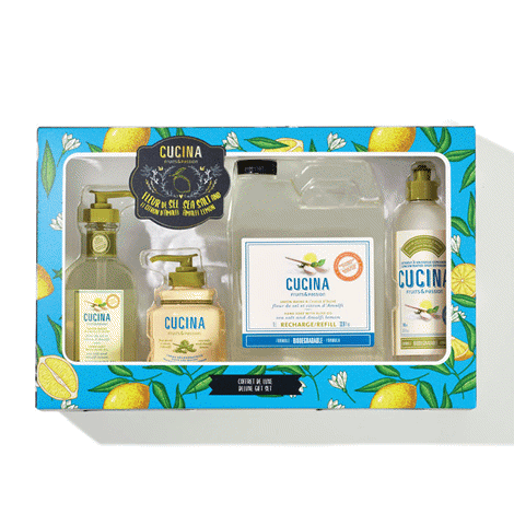 Fresh and delicate with sparkling notes of Amalfi lemon and soft sea salt.