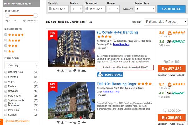 Booking Hotel Murah di Bandung secara online
