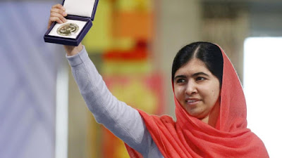 5) Youngest Nobel Peace Prize Winner Malala Yousuf Zai