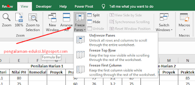 Freeze Excel