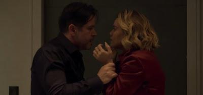 Raul (Murilo Benício) e Estela (Letícia Lima) em cena de Amor de Mãe; pilota fará um escândalo e será humilhada