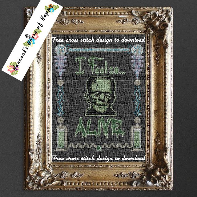 Funny Steam Punk Frankenstein's Monster Cross Stitch Design to Download Free