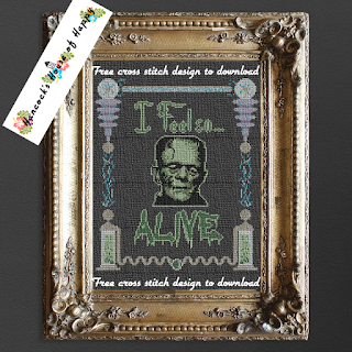 FreenFrankenstein Monster Laboratory Cross Stitch Pattern