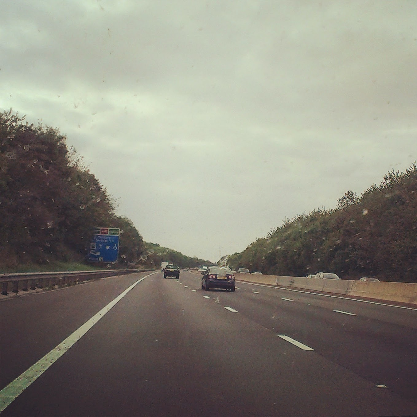 5pm - driving along the M4 motorway
