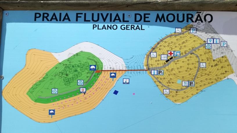 Praia Fluvial de Mourão - Plano Geral