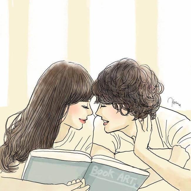 35 Heartwarming Sketches Depict The Magical Feeling Of Being Crazy In Love