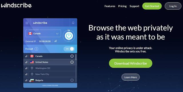 Windscribe VPN Ελλάδα