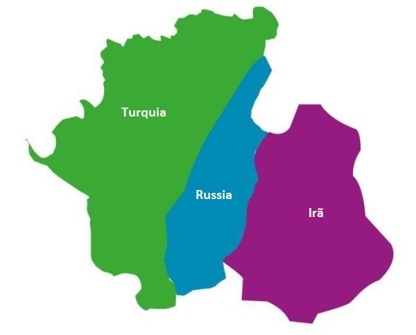 Mapa de Idlib acordado em Astana