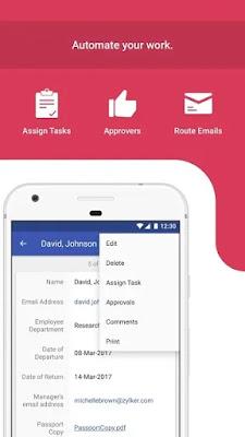 Screenshot Zoho Mobile Forms - Apcoid
