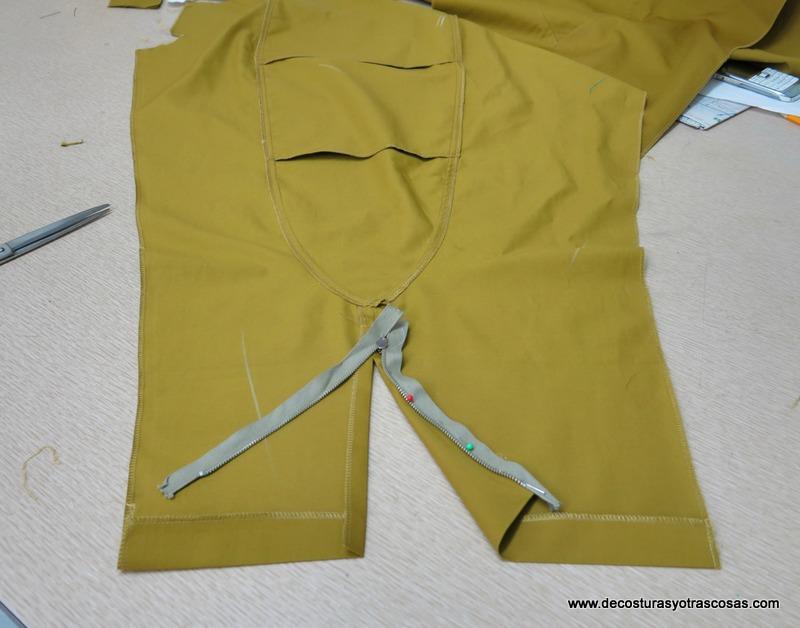 coser un pantalón de loneta