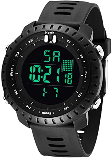 70% OFF Father's Day Gifts BROMEN Men Watch Digital Sports Watches Waterproof Military Watch Wrist Watch with Stopwatch Alarm