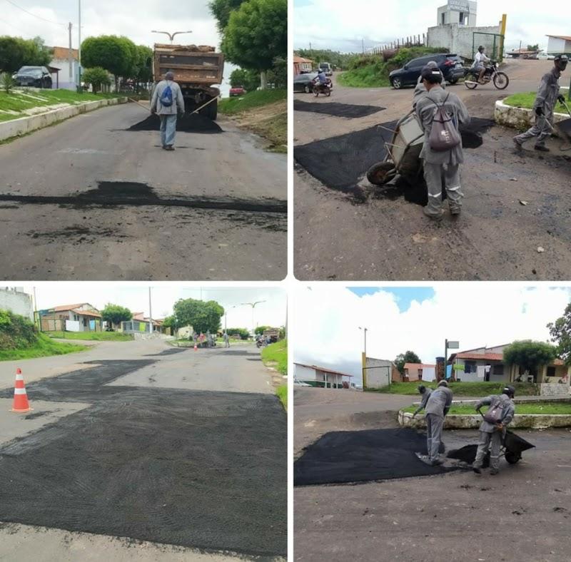 Iniciada a operação tapa buracos na principal via de acesso em Trizidela do Vale.