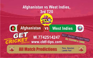 Who will win Today 3rd T20, Match WI vs AFGH, Free cricket match prediction