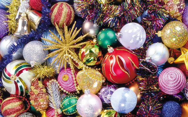 Kerstversiering in alle kleuren