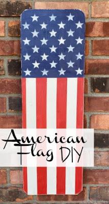 DIY American flag pinterest pin