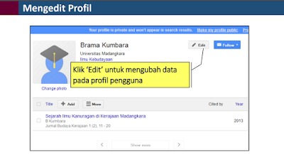 Cara Mengedit Profil Google Scholar