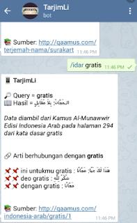 Cara Menggunakan Bot Bahasa Arab Telegram Mudah