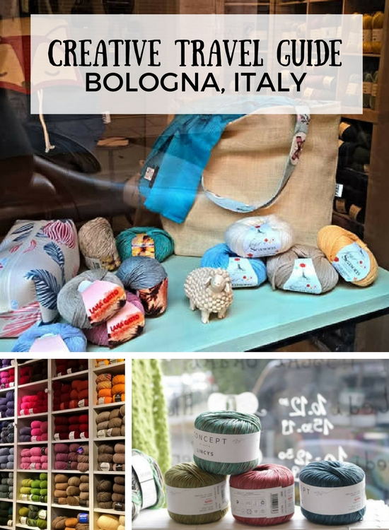 Creative travel giude: Bologna, Italy. Colourful places and yarn shops in Bologna, Italy | Happy in Red