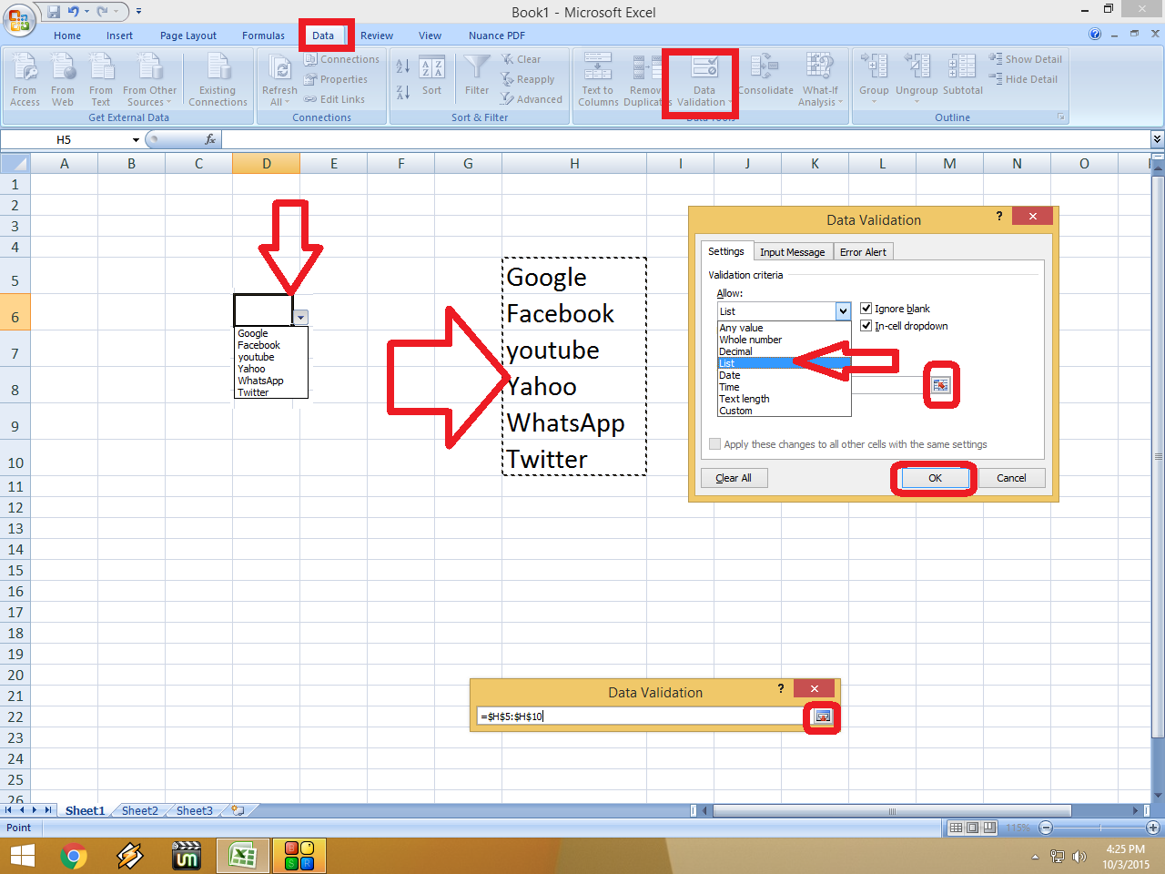 Learn New Things How To Make Drop Down List In Ms Excel