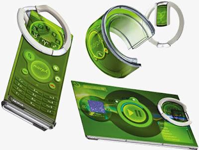 HP Lentur & Transparan di Masa Depan yang Canggih dari Nokia