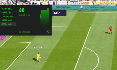 Tampilkan FPS di game PES 2021