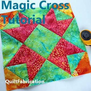orange yellow and green quilt block