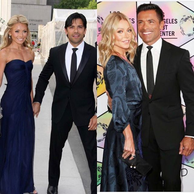 Kelly Ripa and Mark Consuelos #10yearchallenge